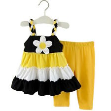 baby girl set summer dress pants sunflower suit girls clothing outfit size 2T-4T