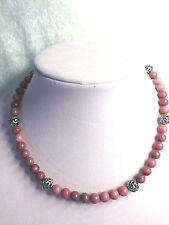 """CAROLYN POLLACK STERLING SILVER 18"""" SIGNATURE BEAD & GEMSTONE NECKLACE (M508-7)"""