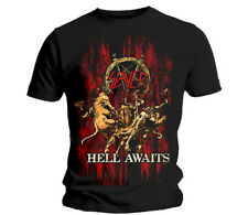 Slayer Mens Short Sleeve Black T Shirt Hell Awaits Official Rock Classic