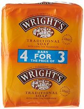 Wrights Traditional Coal Tar Soap 125gm 4 Pack
