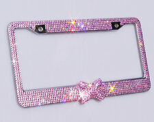 Handcrafted Shining Sparkling Premium Crystal Diamond Metal License Plate Frame