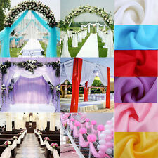 10M Top Table Swags Sheer Organza Fabric DIY Wedding Party Bow Decorations
