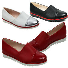 WOMENS LADIES FLAT CASUAL SLIP ON LOAFERS PUMPS MOCCASINS SHOES SIZE 3-8