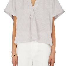 ISABEL MARANT WOMENS LASHAY STRIPED COTTON CROP TOP