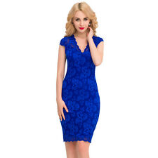 Suzanjas Sheath dress with lace in Royal blue, size M-XL/ 38-42