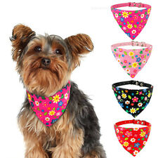 Floral Bandana-Style Dog Collar Neckerchief Pet Puppy Cat Scarf Chihuahua Yorkie