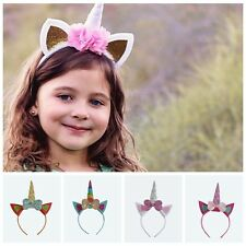 1PCUnicorn Butterfly Girls Hair Hoop Party Hair Clips Bow Hair Accessories Baby