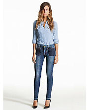 NWT GENETIC DENIM Bardot Mid-Rise Front Patch Pockets Legs Skinny Jeans $233