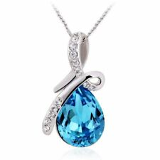 Water Drop Austrian Crystal Necklaces & Pendants Top Quality Collier Teardrop Ch