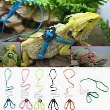 Reptile Amphibians Lizard Hauling Cable Harness Leash Lead Walking Rope, PICK