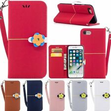 Fashion Lovely Magnetic Flip Leather Soft Wallet Case For iPhone 7 6 6S Plus 5S