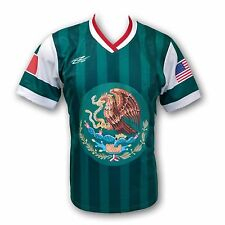 Mexico USA Proud Men's Loose Fit Soccer Jersey 100% Polyester See Description