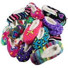 Warm and cozy lined slipper socks with anti-slip bottom. One Size Fits Most.