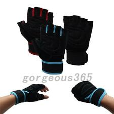 1pair Outdoor Racing Cycling Bike Bicycle Antiskid Sports Half Finger Gloves