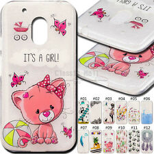 For Motorola Moto G4 Play Cute Cover Shockproof Rubber TPU Soft Skin Back Case