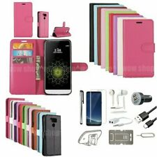 8 in 1 Filp Wallet Leahter Case Cover Earphones Accessory Kit For Samsung Galaxy