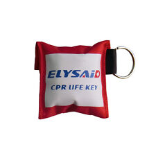 Elysaid CPR Face Shields  Keychain CPR Mask + First Aid Gloves CPR 30:2 Teaching