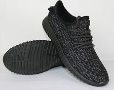 MENS NEW BLACK TRAINERS FITNESS GYM SPORTS RUNNING SHOCK SHOES SPORTS 6-11