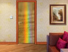Rainbow DOOR WRAP Decal Wall Sticker Mural Personalized ANY NAME D91