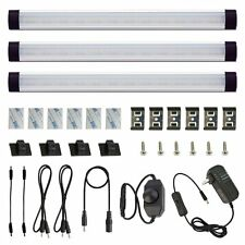 Under Above Cabinet LED Puck Lights 3 Kits Rigid Bar with Dial Dimmer Switch