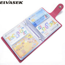 Credit Card Holder Wallet Id Leather Slim Money Case Pocket Clip Large Capacity