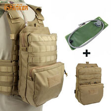 SPANKER Molle Tactical Vest Hydration Backpack With 3L Hydration Water Bladder P