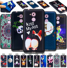 For Huawei Case Various Embossed Skin Soft Gel TPU Rubber Embossing Cover Back
