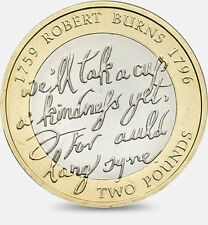 Rare £2 Coin 2009 Robert Burns Collectable Coin Hunt
