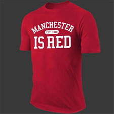 Manchester Is Red - Manchester United FC Football Mens T-Shirt 2017