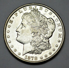 SCARCE 1878-S UNC/MS PROOF LIKE Morgan Dollar Silver Better Date COIN,No RESERVE