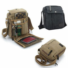 Multifunction Mens Canvas Leather Satchel School Military Shoulder Messenger Bag