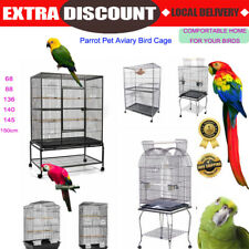 AU Bird Cage Parrot Aviary Pet Stand-alone Budgie Perch Castor Wheels Lager NEW