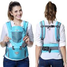 Safe Ergonomic 4 in 1 Baby Toddlers Carrier w/Attachable Hip-seat Sling Backpack