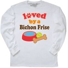 Inktastic Bichon Frise Dog Lover Long Sleeve T-Shirt Loved By Dogs Pets Cute Tee