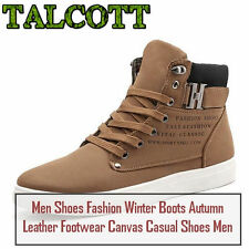 Men Shoes Fashion Winter Boots Autumn Leather Footwear Canvas Casual Shoes Men