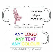 12 Personalised Wedding Favours Word Art Thank You Top Table Printed Mugs