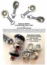 Racing Kart Tie Rod Ends with cone spacers 8mm Metric
