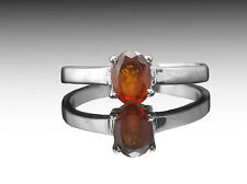 925 Sterling Silver Ring with Hessonite Natural Gemstone Oval Cut Handmade eBay