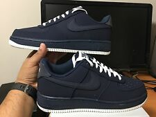 Nike Air Force 1 Low Navy Blue Obsidian Leather White Mens 820266-403 Authentic!