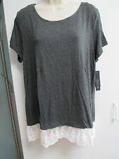 NWT Misses Size Large or XLarge Layered Look Shirt, Top by AB Studio