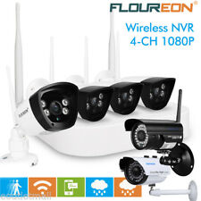 4CH Wireless CCTV 1080P DVR Kit Outdoor Wifi Camera Home Security Record System