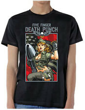 Five Finger Death Punch: Patriotic Lady T-Shirt  Free Shipping  New  Official