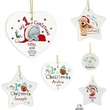 PERSONALISED Babies First Christmas Tree Baubles 1st Xmas Tree Bauble Decoration