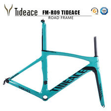 Full Carbon Road Bike Bicycle Frame Fork Seatpost Clamp Glossy Tideace Decal OEM