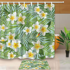 Tropical Palm Leaves Shower Curtain Home Bedroom Waterproof Fabric & 12hooks HOT