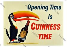 Vintage Re-print Guinness Drink's Advertisement Poster, Nostalgic Retro