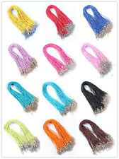 Wholesale Lots 20Pcs Snake Hemp Rope Silver P Cords Necklace DIY 45+5CM Choose~
