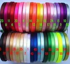 """6mm(1/4"""") mixed colors satin double faces ribbon lot craft 100 Yards 40 colors"""