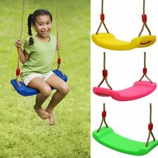 Child Adjustable Rope Length Swing Seat Blow Moulded Outdoor Plastic Swing Gift