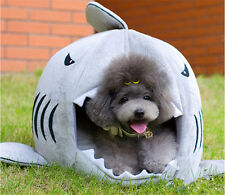 Cute Shark Mouth Pet Dog Cat House Removable & Washable Bed Kennel Puppy Cushion